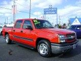2005 Victory Red Chevrolet Silverado 1500 LS Crew Cab #4560642