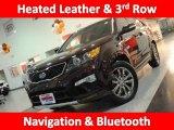 2011 Dark Cherry Kia Sorento SX V6 #45770259
