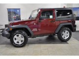 2011 Deep Cherry Red Crystal Pearl Jeep Wrangler Sport S 4x4 #45690018
