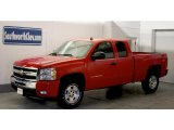 2011 Victory Red Chevrolet Silverado 1500 LT Extended Cab 4x4 #45690562