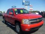2008 Victory Red Chevrolet Silverado 1500 LTZ Crew Cab 4x4 #4559834