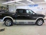 2010 Brilliant Black Crystal Pearl Dodge Ram 1500 Laramie Crew Cab 4x4 #45770326