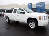 2011 Summit White Chevrolet Silverado 1500 LT Extended Cab 4x4 #45770351