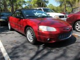 2002 Inferno Red Pearl Chrysler Sebring LXi Convertible #45876061