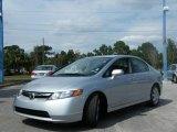 2007 Alabaster Silver Metallic Honda Civic LX Sedan #441997