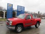 2003 Victory Red Chevrolet Silverado 1500 Z71 Regular Cab 4x4 #45876424