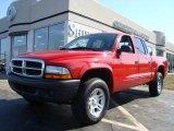 2004 Flame Red Dodge Dakota SXT Quad Cab 4x4 #4559162
