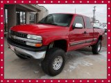 2000 Victory Red Chevrolet Silverado 1500 LS Extended Cab 4x4 #45876579