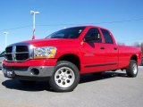 2006 Flame Red Dodge Ram 1500 SLT Quad Cab #4554535