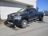 2009 Brilliant Black Crystal Pearl Dodge Ram 3500 Laramie Quad Cab 4x4 Dually #45876708