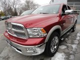 2009 Inferno Red Crystal Pearl Dodge Ram 1500 Laramie Quad Cab 4x4 #45877005