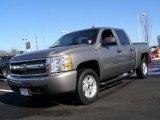 2008 Graystone Metallic Chevrolet Silverado 1500 LT Crew Cab 4x4 #45877138