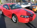 2003 Torch Red Ford Mustang V6 Coupe #45877179