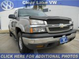 2003 Light Pewter Metallic Chevrolet Silverado 1500 Z71 Extended Cab 4x4 #45877272