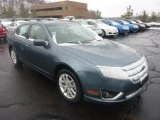 2011 Steel Blue Metallic Ford Fusion SEL V6 #45955145