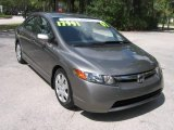 2007 Galaxy Gray Metallic Honda Civic LX Sedan #439653