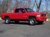 1999 Flame Red Dodge Ram 1500 Sport Extended Cab 4x4 #45955233