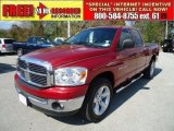 2007 Inferno Red Crystal Pearl Dodge Ram 1500 ST Quad Cab #45955540