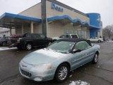 2002 Sterling Blue Satin Glow Chrysler Sebring Limited Convertible #45955580