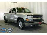 2002 Light Pewter Metallic Chevrolet Silverado 1500 LS Extended Cab #46038443