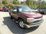 2002 Dark Carmine Red Metallic Chevrolet Silverado 1500 LS Regular Cab #46038486