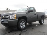 2011 Steel Green Metallic Chevrolet Silverado 1500 LS Regular Cab 4x4 #46038568