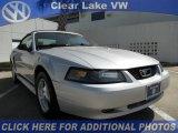 2002 Satin Silver Metallic Ford Mustang V6 Convertible #46038935
