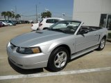 Satin Silver Metallic Ford Mustang in 2002