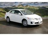2011 Super White Toyota Corolla LE #46069453