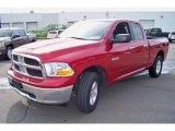 2009 Inferno Red Crystal Pearl Dodge Ram 1500 SLT Quad Cab 4x4 #46069857