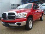 2007 Flame Red Dodge Ram 1500 ST Quad Cab 4x4 #46069863