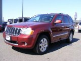2008 Red Rock Crystal Pearl Jeep Grand Cherokee Overland 4x4 #46070414