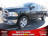 2011 Hunter Green Pearl Dodge Ram 1500 Big Horn Quad Cab #46069939