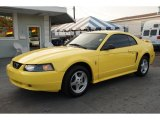 2003 Zinc Yellow Ford Mustang V6 Coupe #46091886