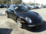 Black Porsche 911 in 2007
