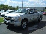2011 Sheer Silver Metallic Chevrolet Silverado 1500 LT Crew Cab #46091488