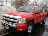 2009 Victory Red Chevrolet Silverado 1500 LT Extended Cab 4x4 #46070583