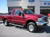 2004 Dark Toreador Red Metallic Ford F250 Super Duty XLT SuperCab 4x4 #46092039