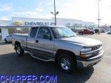 2001 Light Pewter Metallic Chevrolet Silverado 1500 LS Extended Cab 4x4 #46070643