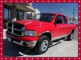 2003 Flame Red Dodge Ram 1500 SLT Quad Cab 4x4 #46091676
