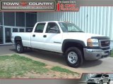 2007 Summit White GMC Sierra 2500HD Classic Work Truck Crew Cab 4x4 #46092011