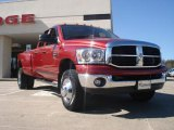 2007 Inferno Red Crystal Pearl Dodge Ram 3500 SLT Quad Cab 4x4 Dually #46092014