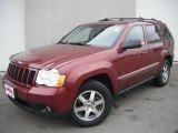 2008 Red Rock Crystal Pearl Jeep Grand Cherokee Laredo 4x4 #46069534