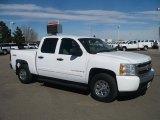 2008 Summit White Chevrolet Silverado 1500 LS Crew Cab 4x4 #46069568