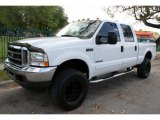2002 Oxford White Ford F250 Super Duty XLT Crew Cab 4x4 #46183453