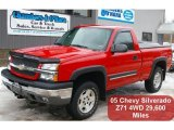 2005 Victory Red Chevrolet Silverado 1500 Z71 Regular Cab 4x4 #46183454