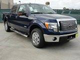 2011 Dark Blue Pearl Metallic Ford F150 XLT SuperCrew #46183475