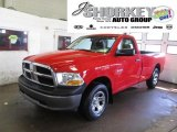 2009 Flame Red Dodge Ram 1500 ST Regular Cab 4x4 #46183701