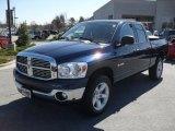 2008 Patriot Blue Pearl Dodge Ram 1500 Big Horn Edition Quad Cab 4x4 #46183934