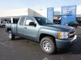 2011 Blue Granite Metallic Chevrolet Silverado 1500 LS Extended Cab 4x4 #46183389